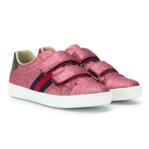 Gucci Ace Glitter Sneakers in Pink